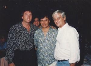 Con Juan Gabriel en Cancún.