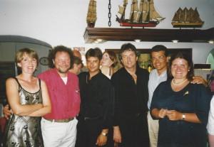 Cala D'Or año 2000 con Queco compañero  y amigos Gerardo y Marita.